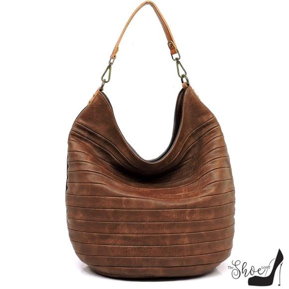 My Bag Lady Online Handbags - Luxury Chocolate Shiplap Extra Large Hobo Bag